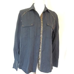 Free People Womens Size Small Long Sleeve Blouse